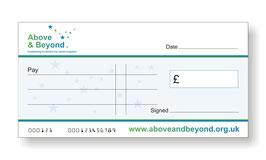 Above & Beyond Jumbo Cheque