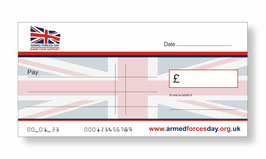 Armed Forces Day Jumbo Cheque