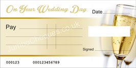 Champagne Cheque - On Your Wedding Day