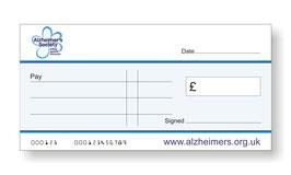 Alzheimers Society Jumbo Cheque