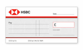 HSBC Jumbo Cheque with Free Sharpie Permanent Marker Pen