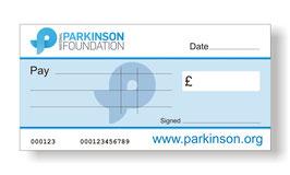 Parkinson Jumbo Charity Cheque
