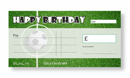 Birthday Jumbo Cheque - Football
