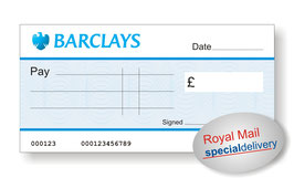 Jumbo Cheque (Barclays) - NEXT DAY