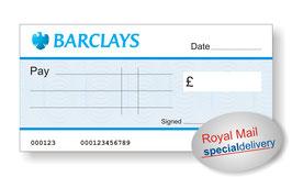 Jumbo Cheque (Barclays) - NEXT DAY
