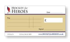 Hockey for Heroes Jumbo Cheque