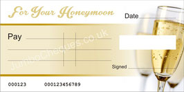 Champagne Cheque - For Your Honeymoon