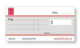 British Heart Foundation Jumbo Cheque