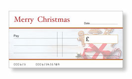 Jumbo Christmas Gift Cheque - Gingerbread Biscuits