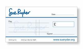 Sue Ryder Jumbo Cheque