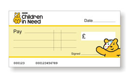 Children in Need Jumbo Cheque