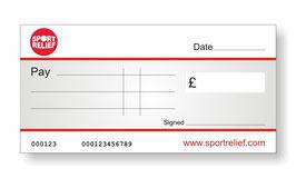 Sport Relief Jumbo Cheque
