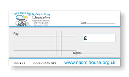 Naomi House Jumbo Cheque