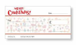 Jumbo Christmas Gift Cheque - Christmas Characters
