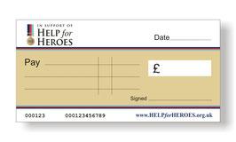 Help for Heroes Jumbo Cheque