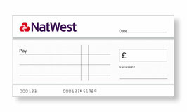 Natwest Jumbo Cheque with Free Sharpie Permanent Marker Pen