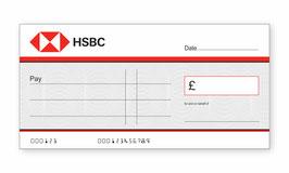 HSBC Jumbo Cheque