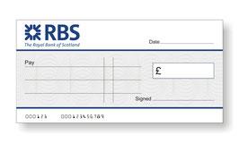 RBS Jumbo Cheque
