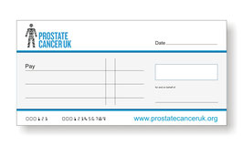 Prostate Cancer UK Jumbo Cheque