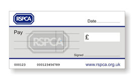 RSPCA Jumbo Cheque