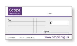 Scope Jumbo Cheque