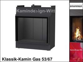 Gas-Kamin Klassik-Kamin Gas 53x67