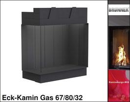 Gas-Kamin Eck-Kamin 67/80/32