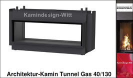 Gas-Kamin Architektur-Kamin Tunnel-Kamin 40x130