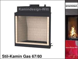 Gas-Kamin Stil-Kamin Gas 67x80