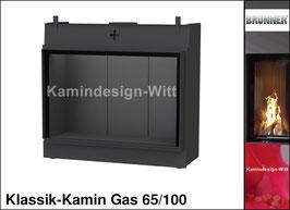 Gas-Kamin Klassik-Kamin Gas 65x100