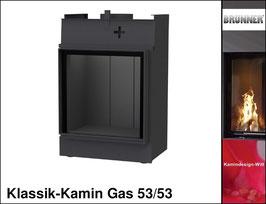 Gas-Kamin Klassik-Kamin Gas 53x53