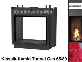 Gas-Kamin Klassik-Kamin Tunnel-Kamin 65x80