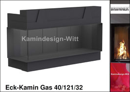 Gas-Kamin Eck-Kamin 40/121/32
