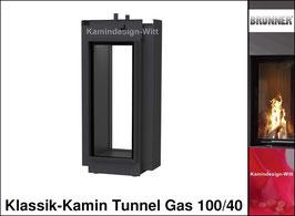 Gas-Kamin Klassik-Kamin Tunnel-Kamin 100x40