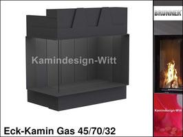 Gas-Kamin Eck-Kamin 45/70/32