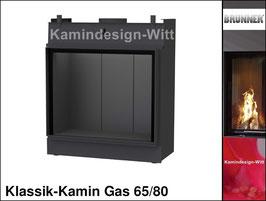 Gas-Kamin Klassik-Kamin Gas 65x80