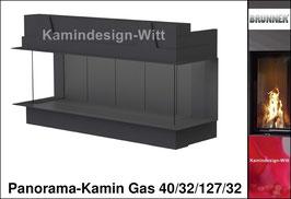Gas-Kamin Panorama-Kamin Gas 40/32/127/32