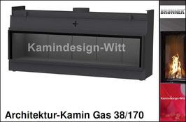 Gas-Kamin Architektur-Kamin Gas 38x170
