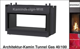 Gas-Kamin Architektur-Kamin Tunnel-Kamin 40x100