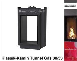 Gas-Kamin Klassik-Kamin, Tunnel-Kamin 80x53