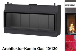Gas-Kamin Architektur-Kamin Gas 40x130
