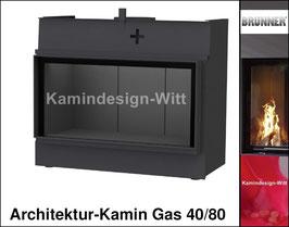 Gas-Kamin Architektur-Kamin Gas 40x80