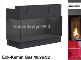 Gas-Kamin Eck-Kamin 40/96/32