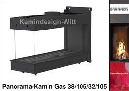 Gas-Kamin Panorama-Kamin Gas 38/105/32/105