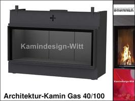 Gas-Kamin Architektur-Kamin Gas 40x100