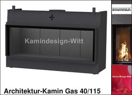 Gas-Kamin Architektur-Kamin Gas 40x115