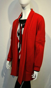 Big Knit Jacket Red for Women