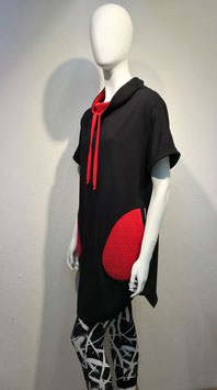 Black & Red Dressshirt For Women