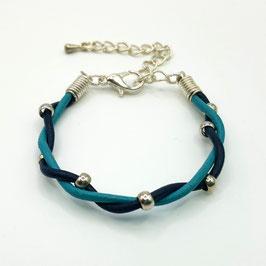 Bleu et Turquoise  Bracelet PERLINETTE Enfant