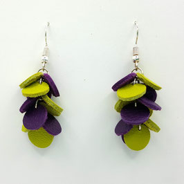 Boucles d'oreilles CONFETTIS Anis et Violet
